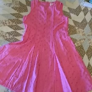 Barbie pink, cotton eyelet dress by Place Princess